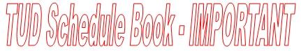 Three Unusual Days Training Manual (Schedule Book)