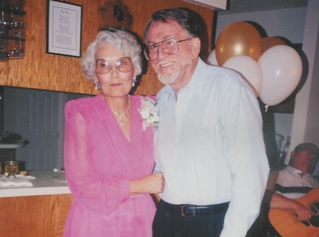 Jack Exum and mom at their 50th Anniversary
