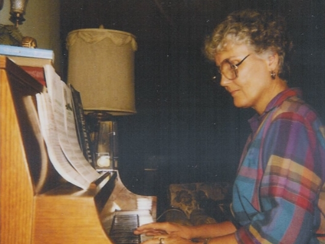 Ann Exum At Home Practising Piano