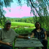 Jack and Wiwik at Crane Creek Vineyards Near Murphy, N.C.