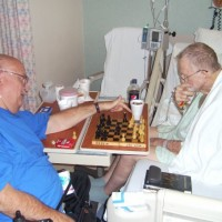 Jack Exum and Bob playing chess