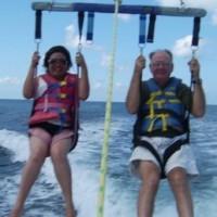 Jack And Wiwik Para-Sailing