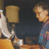 Ann Exum At Home Practising Piano