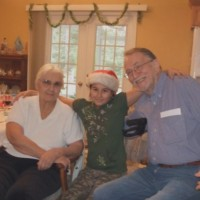 Jack Exum and Mom and Kathrine In The Nursing Home