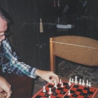 Jack Exum Playing Chess